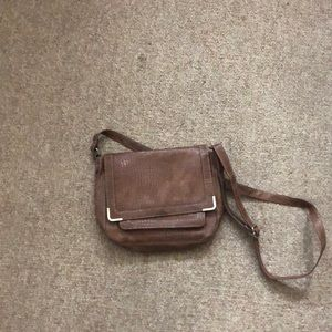 Brown over across the body purse